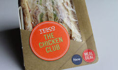 The Chicken Club Sandwich, name on package