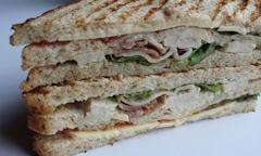 The Chicken Club Sandwich, thickness of sandwich