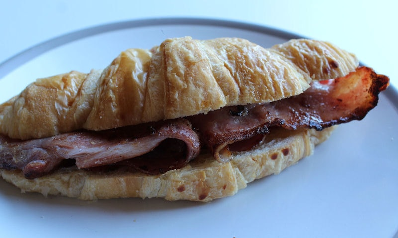 Unsmoked Back Bacon Croissant Recipe