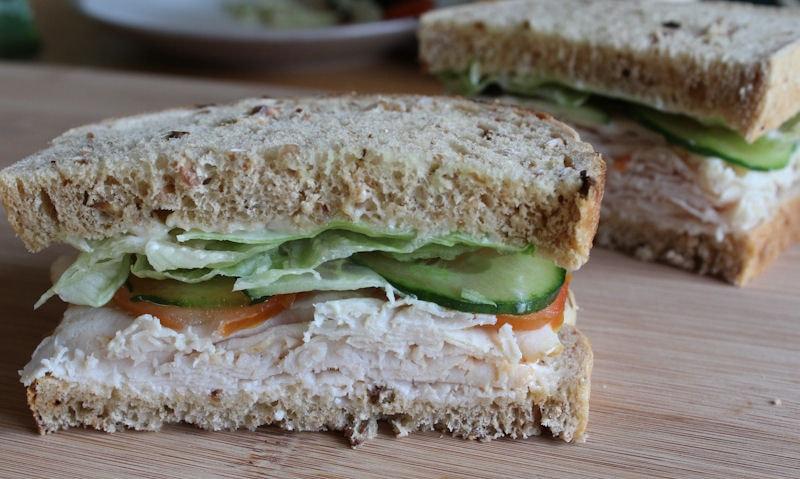 Wafer Thin Roast Chicken Salad Sandwich Recipe